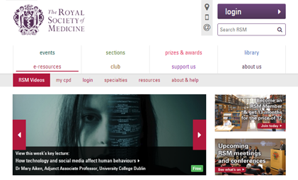 eLEARNING PLATFORM: ROYAL SOCIETY OF MEDICINE VIDEOS