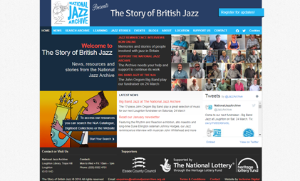 WEBSITE: NATIONAL JAZZ ARCHIVE