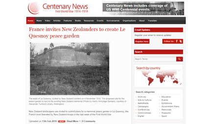 WEBSITE: CENTENARY NEWS