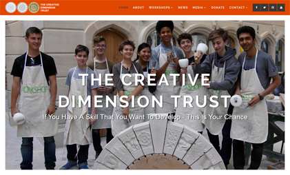 WORDPRESS WEBSITE: THE CREATIVE DIMENSION TRUST