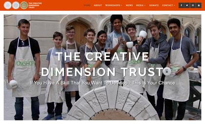 WORDPRESS WEBSITE: THE CREATIVE DIMENSION TRUST