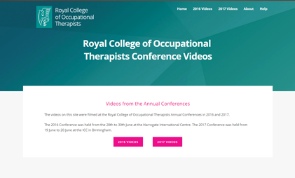 VIDEO AND SLIDES PLATFORM: ROYAL COLLEGE OF OCCUPATIONAL THERAPISTS