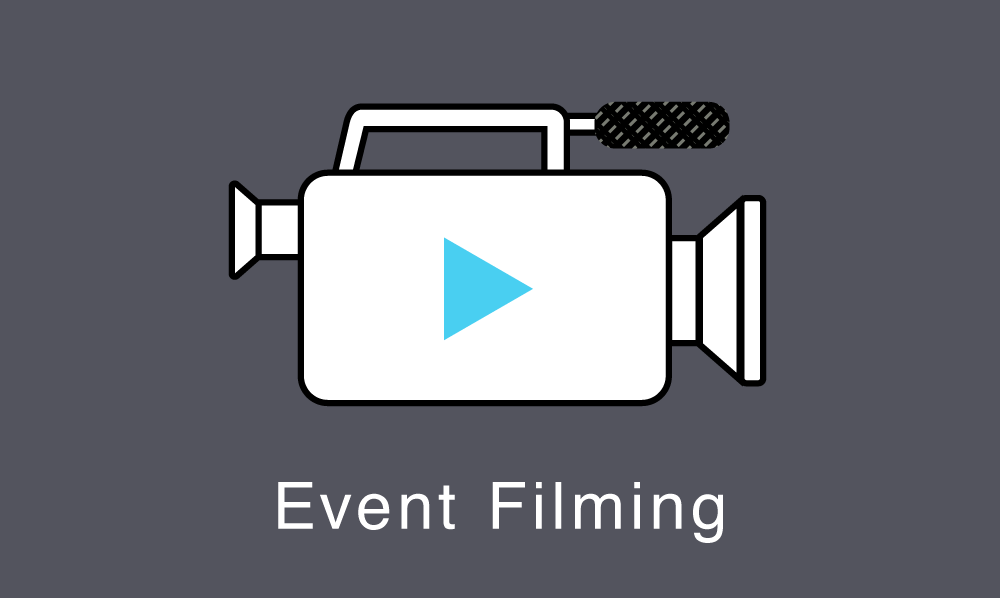 Low cost filming of conferences, launches and events.