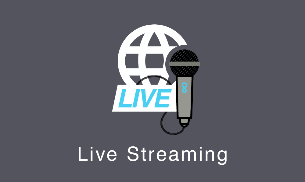 Live streaming and webcasts of events and conferences.