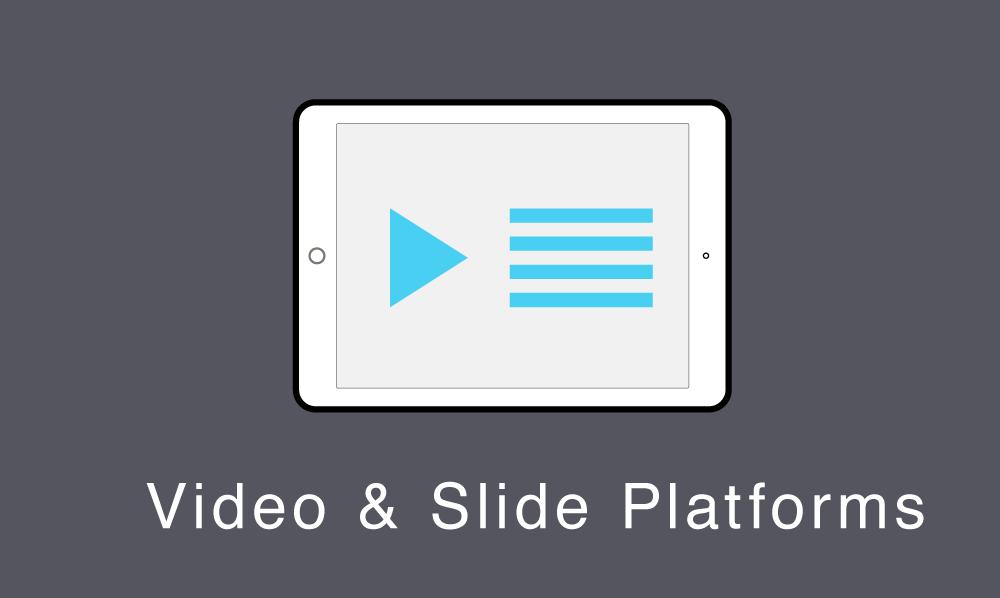 Online platforms that stream lecture videos alongside slides.