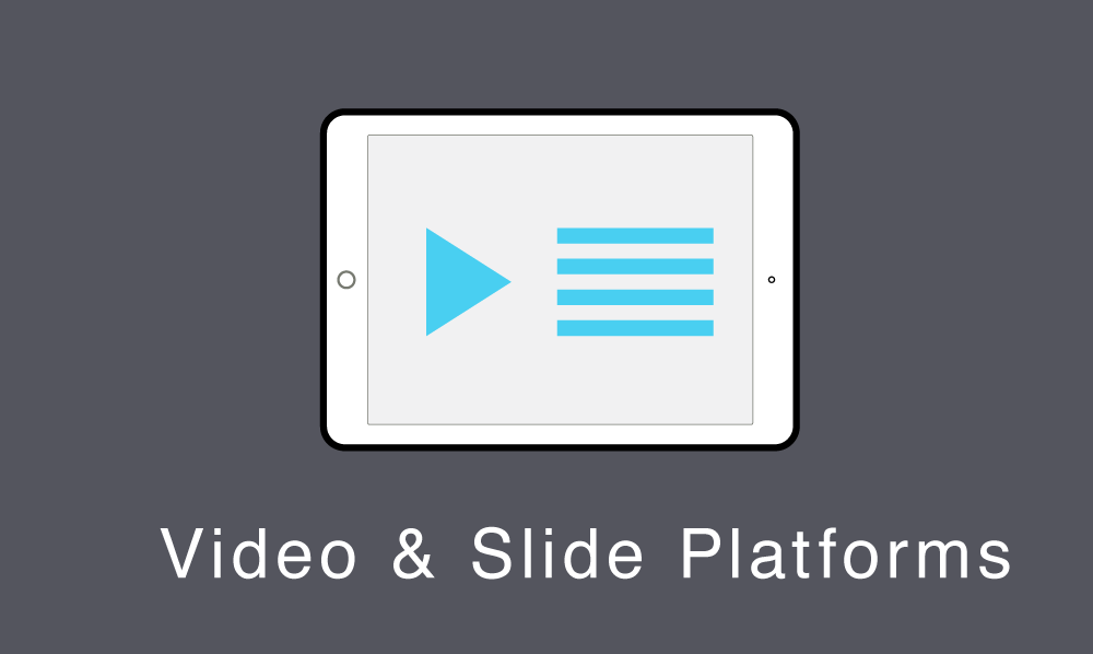 Online platforms that stream lecture videos alongside slides.