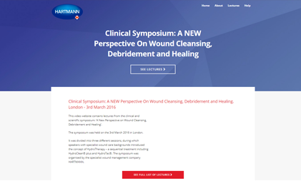 VIDEO AND SLIDES PLATFORM: WOUND CLEANSING SYMPOSIUM