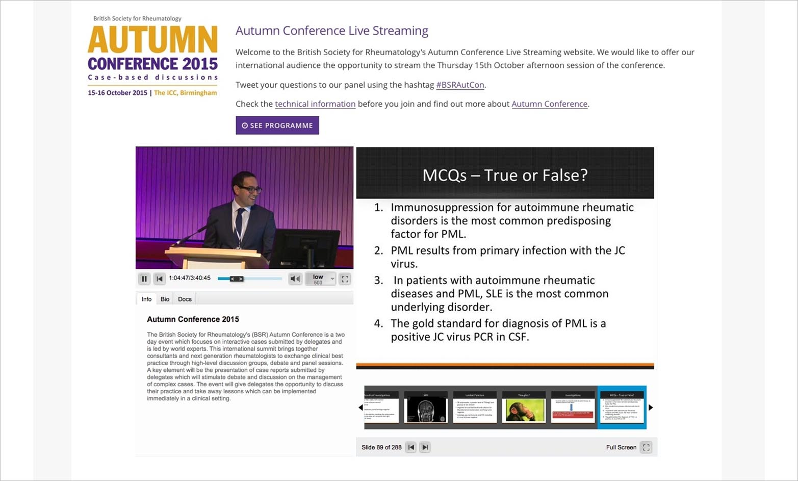 LIVE STREAMING: CONFERENCES