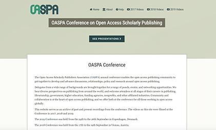 VIDEO AND SLIDES PLATFORM: OASPA