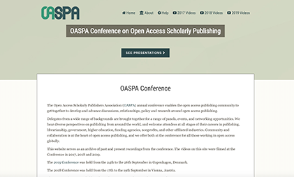 VIDEO AND SLIDES PLATFORM: OASPA