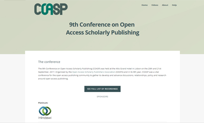 VIDEO AND SLIDES PLATFORM: COASP