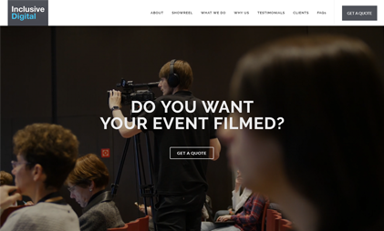 LANDING PAGE WEBSITE: EVENT FILMING