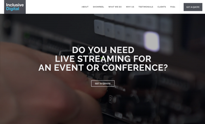 LANDING PAGE WEBSITE: LIVE STREAMING